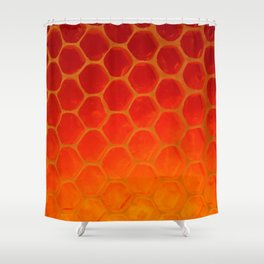 Honeycomb Gold - The Bee's Gift Shower Curtain