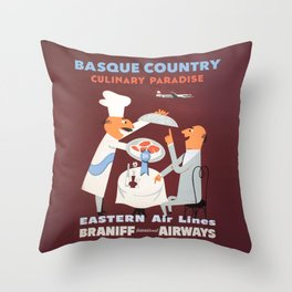 Basque Country culinary paradise Throw Pillow