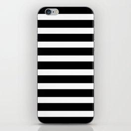 Wide Horizontal Stripe: Black and White iPhone Skin