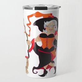Granny Hex (Orange) Travel Mug