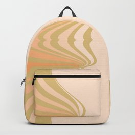 Cream and Olive Green Pattern Backpack