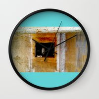 window Wall Clocks featuring WINDOW by  ECOLARTE