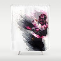 nfl Shower Curtains featuring 10 Point Underdogs - Clutch by JsR_OtR
