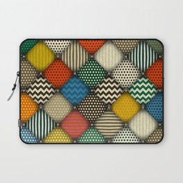 buttoned patches retro Laptop Sleeve