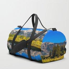 Grand Teton - Reflection at Schwabacher's Landing Duffle Bag