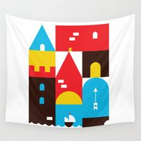 castle Wall Tapestries featuring Castle by koivo