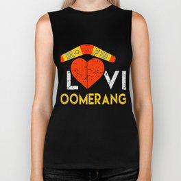 Boomerang  Shirt Gift Biker Tank