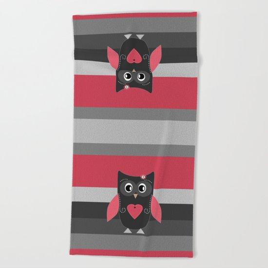 Wonderful owl . Pillow . Beach Towel