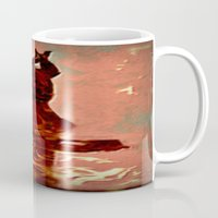 devil Mugs featuring Devil by Eve Divyn