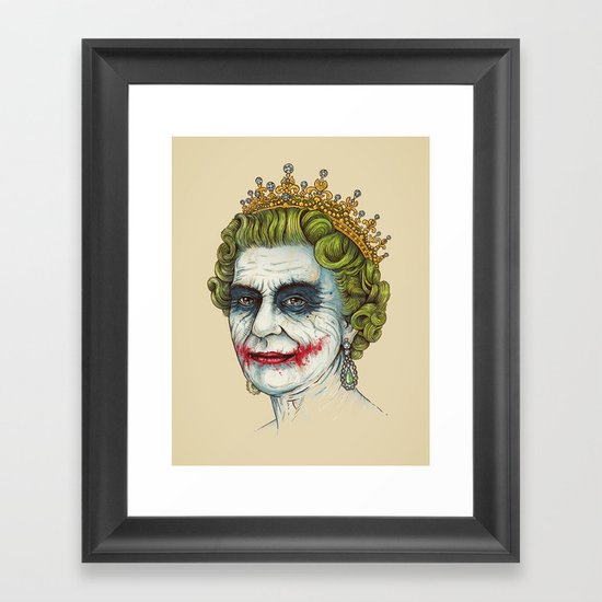 God Save the Villain! Framed Art Print
