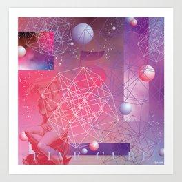 Five Cube Art Print