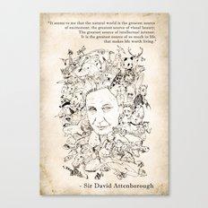 Attenborough & His Animals Canvas Print