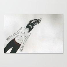 Drifting Man Canvas Print