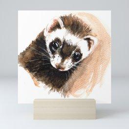 Ferret portrait Mini Art Print
