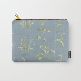 Rosemary, Sage, and Nettle. In Blue Carry-All Pouch