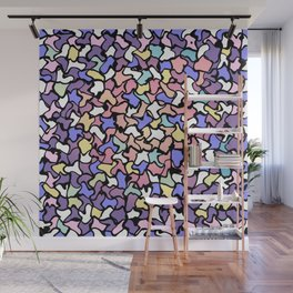 Wobbly Pastel Tone Tiles Wall Mural