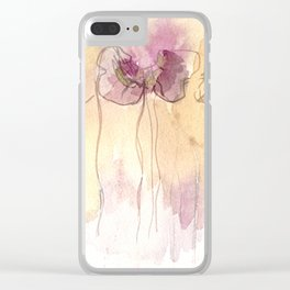 Fragrance - Abstract Flowers Watercolour Clear iPhone Case