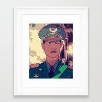 phil jones Framed Art Prints featuring Phil by zatcomics