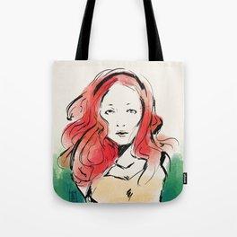 Orange Head Tote Bag
