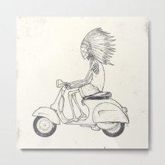 Indian Rider Metal Print