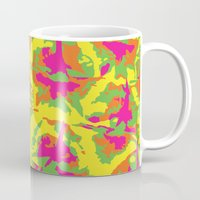 preppy Mugs featuring Preppy Pineapple by Kristin Seymour