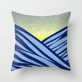 Waves of the ocean... Throw Pillow