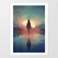 breathe Art Prints featuring breathe by loish