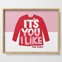 It's You I Like Mister Rogers Sweater Serving Tray