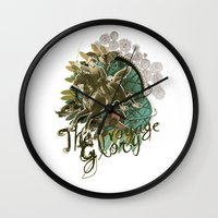 voyage Wall Clocks featuring VOYAGE by TOO MANY GRAPHIX