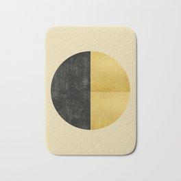 Black and Gold Circle 03 Bath Mat
