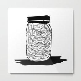 Smiles jar Metal Print