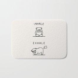 Inhale Exhale English Bulldog Bath Mat