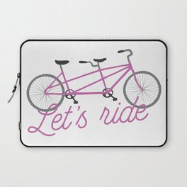 Let's Ride Tandem Bicycle - Purple Laptop Sleeve