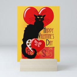 Le Chat Noir Valentine Mini Art Print