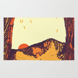 Upward over the Mountain: Sunset Rug