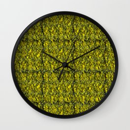 Abstract circles with yellow and green background Wall Clock