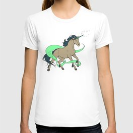 Magical Unicorn (Tan and Navy) T-shirt