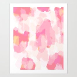 Adonia - blush pink abstract art Art Print