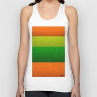 lime green Tank Tops featuring Orange Lime and Green Passion by Saundra Myles