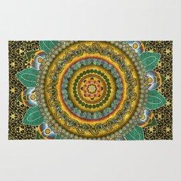 Malachite Baroque Mandala Rug
