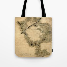 Map Of Quebec 1761 Tote Bag