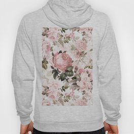 Vintage & Shabby Chic - Sepia Pink Roses Hoody