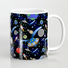 Galaxy Universe - Planets, Stars, Comets, Rockets Coffee Mug