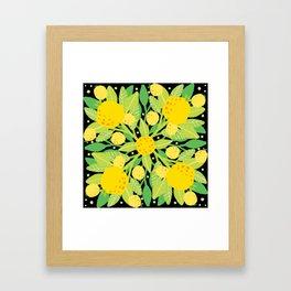 When life gives you lemons, make a lemon pattern Framed Art Print