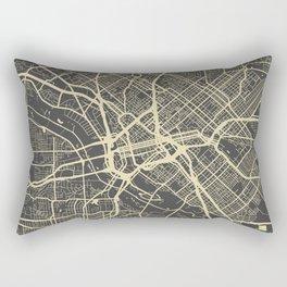 Dallas map yellow Rectangular Pillow