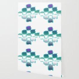 blue white purple rhombus Wallpaper