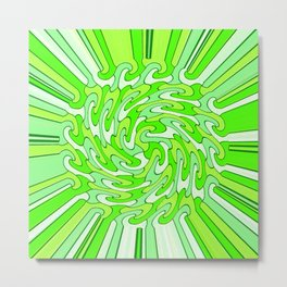 Shaky Version2,neon green Metal Print