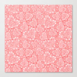 Technologic Heart Valentine's Day Pattern Canvas Print
