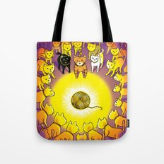 The Mystery of the Golden Yarn. Tote Bag