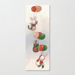 Flying bunnies #2 Canvas Print